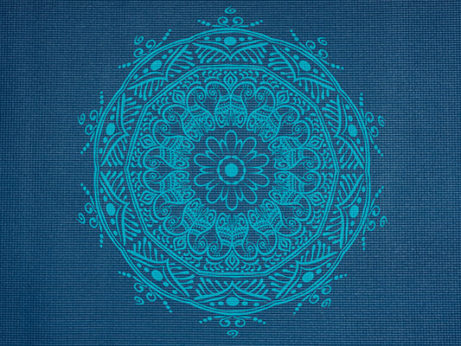 Krásná modrá jógamatka