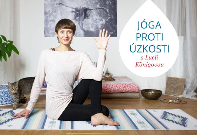 Cvičení jógy podle videí proti úzkosti a stresu.
