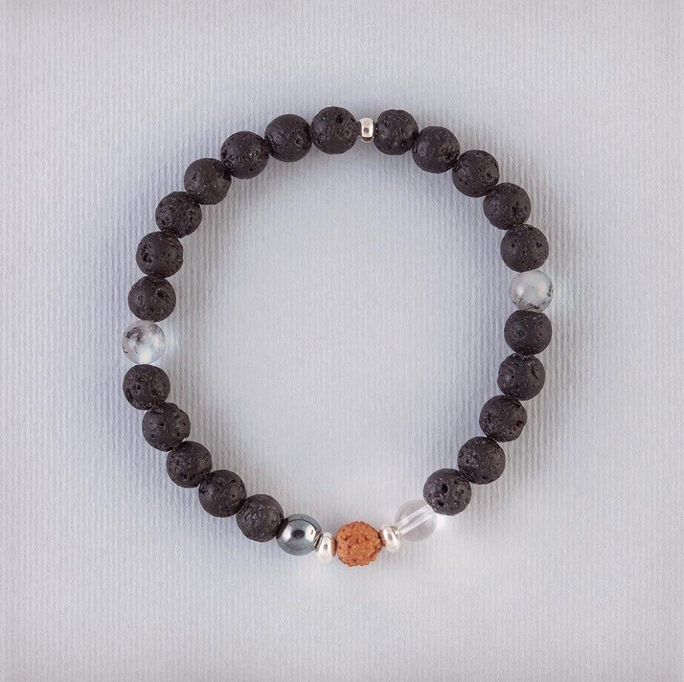 Náramek jako dárek pro jogínku i nejogínku inspirovaný aromaterapií a jógou.