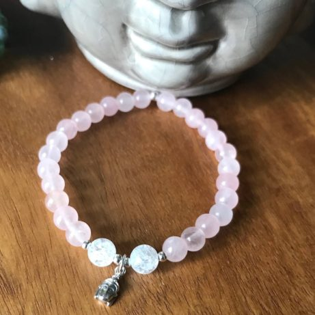 Jóga náramek pro jogínky i nejogínky z křišťálu a růženínu.