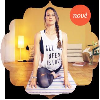 Cvičení jógy doma podle videí od jógy z obýváku