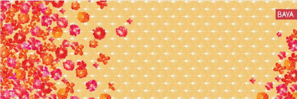 Krásná jóga podložka květy pro jogínku, co milluje design.