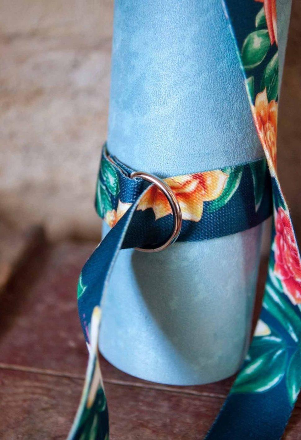 Popruh / pásek na nošení podložky pro jógu i pro cvičení jógy