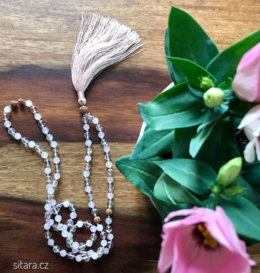 Jóga šperk Mala pro krásu ameditaci zrůženínu akřišťálu.