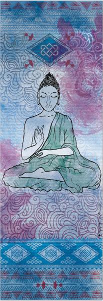 Designová krásná jóga podložka pro cvičení jógy s potiskem Buddhy