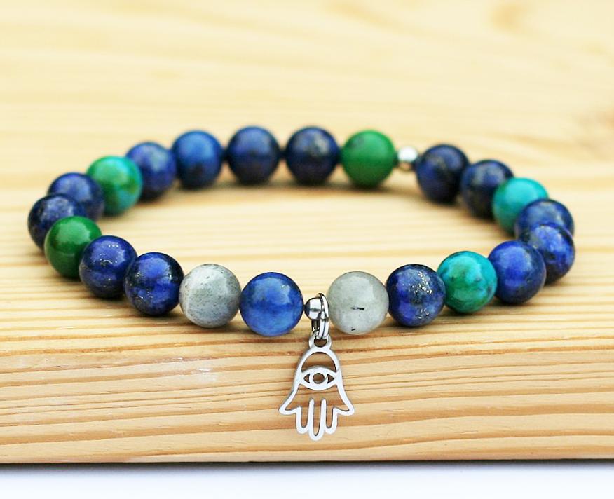Jóga náramek pro jogínky inejogínky zpřírodních minerálú.