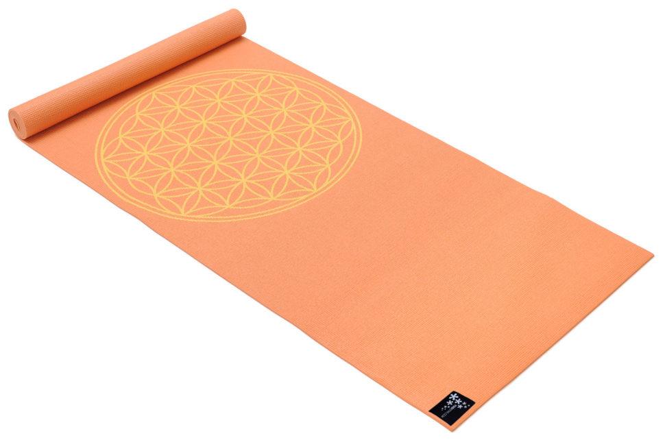 Designová jóga podložka skvětem života.