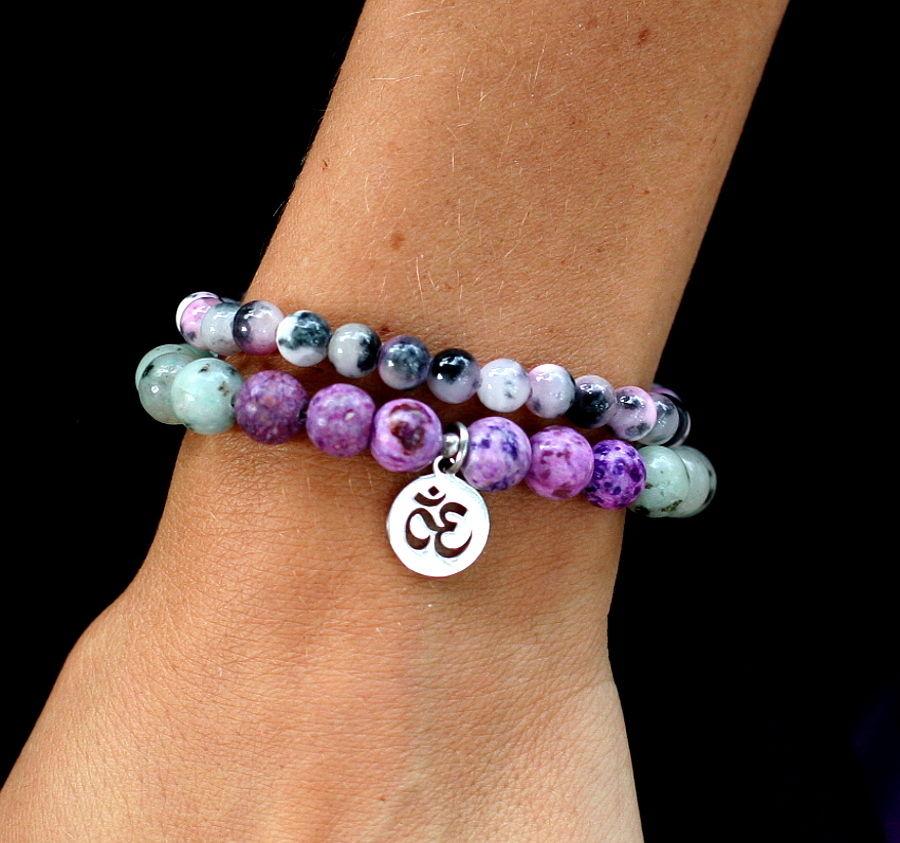 Jóga náramek pro jogínky i nejogínky z přírodních minerálů.