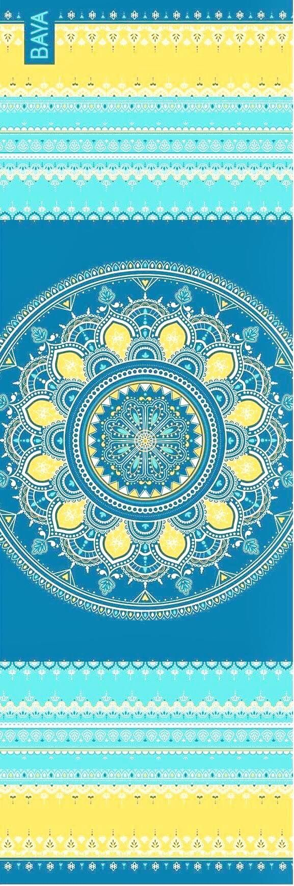 Krásná designová podložka najógu sdesignem inspirovaným Indií pro cvičení jógy doma iv jógovém studiu.
