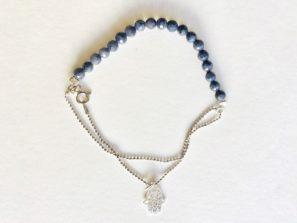 Luxusní náramek za stříbra inspirovaný jógou je vhodný dárek pro jogínku a každou ženu.