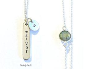 """Designový stříbrný šperk inspirovaný jógou s přívěskem """"Život"""" pro jogínku a každou ženu, co miluje život."""