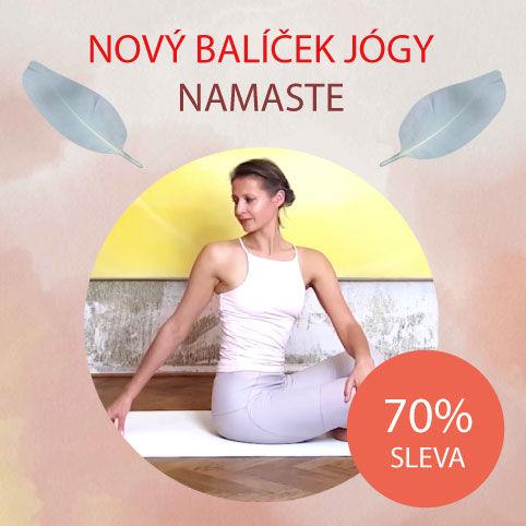 Balíček jógy pro domácí cvičení podle videí od jógy zobýváku je také vhodný pro jóga začátečníky.
